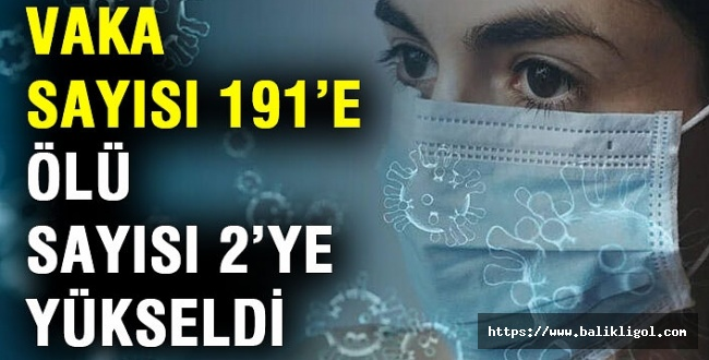 Hızla Artıyor! Koronavirüs Vaka Sayısı 191'e Yükseldi