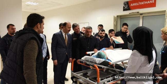 Vali Erin Yaralanan Bekçileri Hastanede Ziyaret Etti