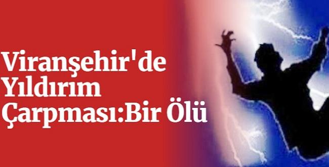 Viranşehir'de Yıldırım Çarpması: 1 Ölü