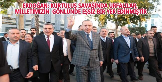 Erdoğan'dan Urfa 100. yıl Kurtuluş dönümü mesajı