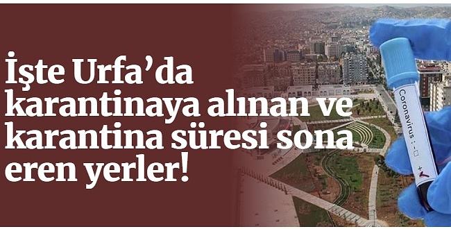 Urfa'da Bir Yer Daha Karantinaya Alındı