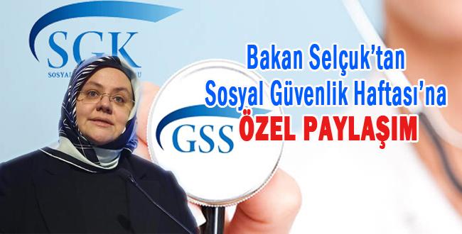 Aile Bakanı Selçuk'dan GSS Açıklaması