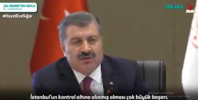 Bakan Koca açıkladı: 20 milyon nüfuslu İstanbul'u kontrol altına aldık