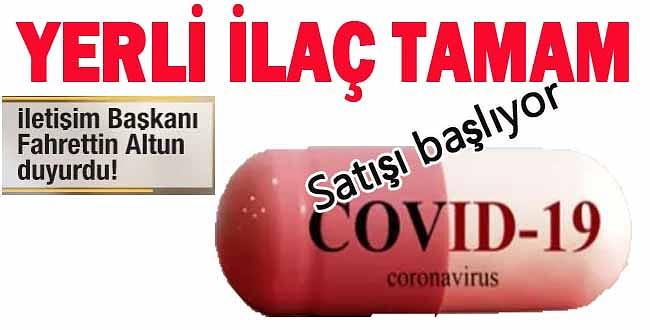 Kovid-19 tedavisinde kullanılmak üzere üretilen yerli ilaç onaylandı, satışı başlıyor