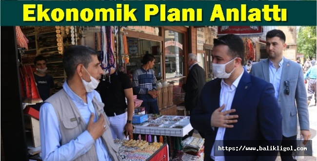 AK Parti İl Başkanı Bahattin Yıldız çarşı esnafını ziyaret etti