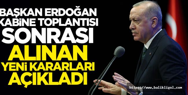 Erdoğan'dan 18 yaş altı 65 yaş üstü Yasağıyla İlgili Önemli Açıklama