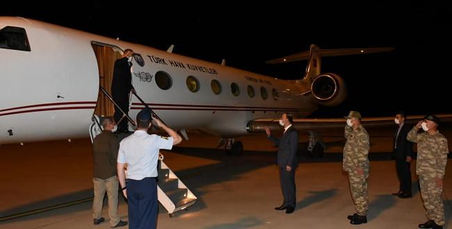 Milli Savunma Bakanı Akar ve Kuvvet Komutanları Şanlıurfa'dan Ayrıldı