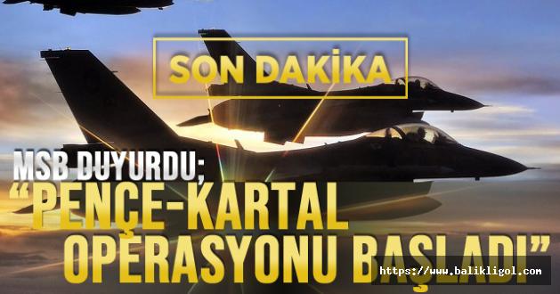 Savunma Bakanlığı: Kandil'e Yönelik Pençe-Kartal Operasyonu başladı