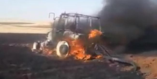 Urfa'da hem ekin hem de traktör yandı
