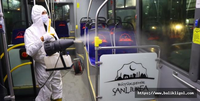 Urfa Büyükşehir Toplu Taşıma Araçları Her Gün Dezenfekte Ediyor