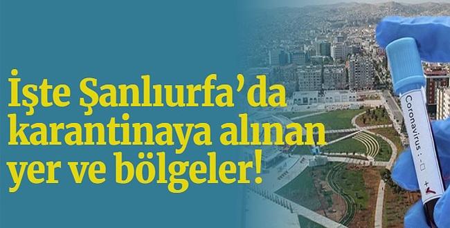 Urfa'da 30 Yer Karantinaya Alındı, 1 Fabrika'da Buna Dahil!..