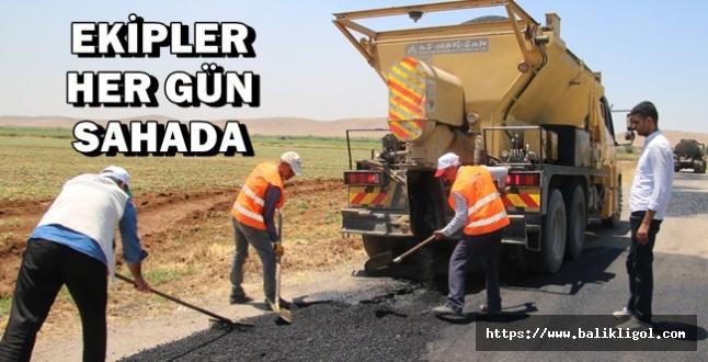 Urfa'da Zarar Gören Yolları Büyükşehir Onarıyor