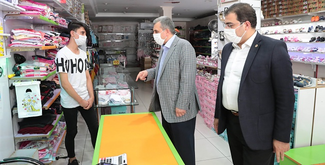 Başkan Beyazgül Haliliye'de Esnaf Ziyareti Gerçekleştirdi