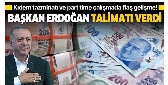 Erdoğan Kıdem Tazminatı İçin Devreye Girince...