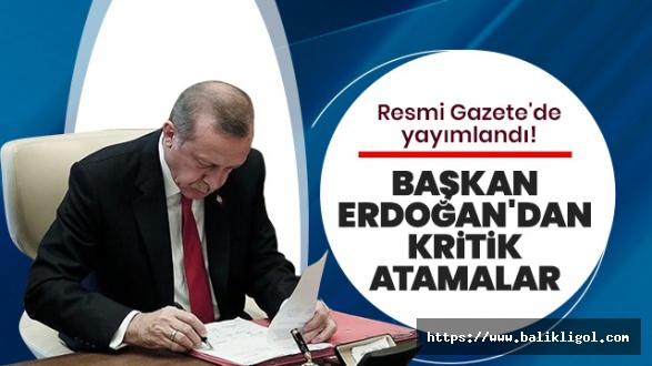 Erdoğan'ın Yeni Atama ve Görevden Alma Kararları Yayımlandı
