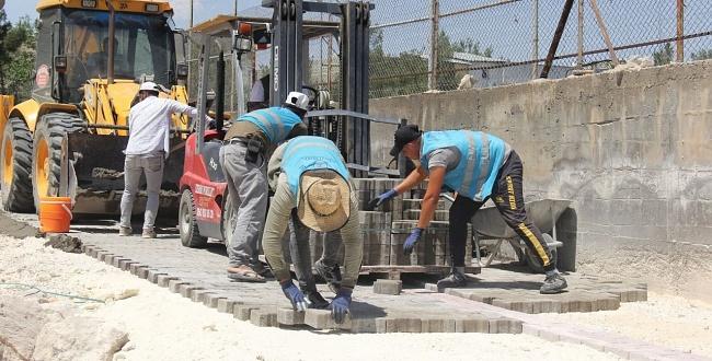 Eyyübiye Belediyesi,Üst yapı çalışmalarını sürdürüyor