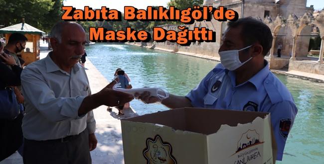 Zabıta Balıklıgöl'de Maske Dağıttı