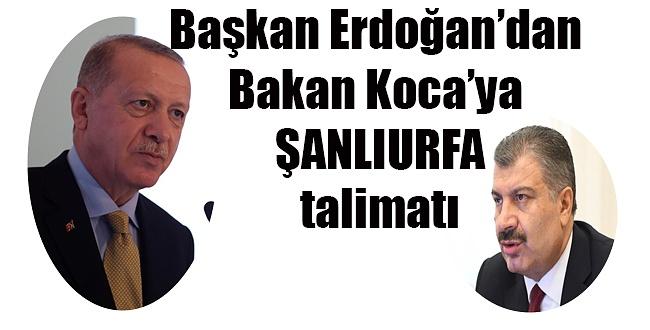 Erdoğan, Bakan Koca'ya Şanlıurfa Koronovirüs talimat verdi