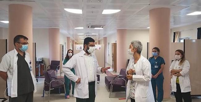 Harran Üniversitesi Hastanesi'nde Covid-19 Koordinasyon Merkezi açıldı