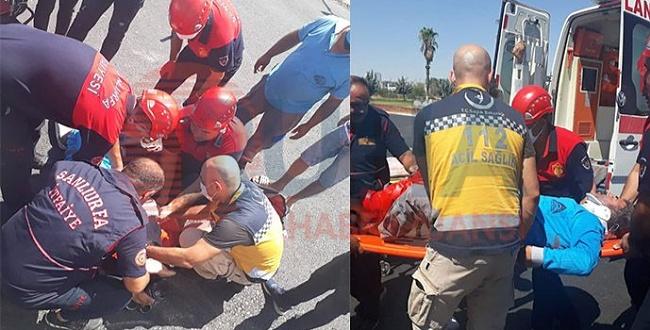 Eyyübiye'de motosiklet kazası: 1 yaralı var!