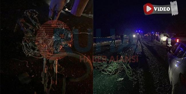 Şanlıurfa'da trafik kazası: motosiklet sürücüsü öldü