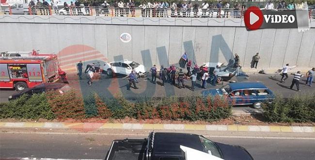 Abide Kavşağında trafik kazası: 5 yaralı