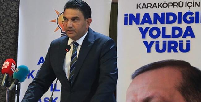 AK Parti Karaköprü'de Sait Ağan'la devam dedi