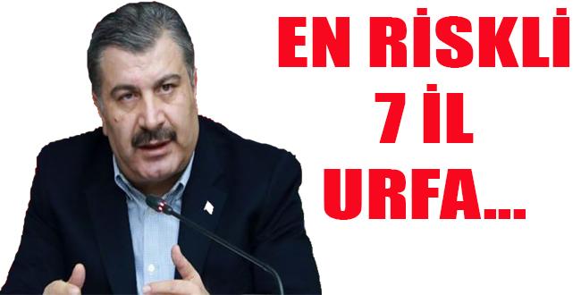 Bakan Fahrettin Koca en kritik 7 ili açıkladı, Urfa...