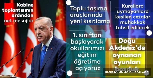 Erdoğan Kabine Toplantısının Ardından Basın Açıklaması Yaptı