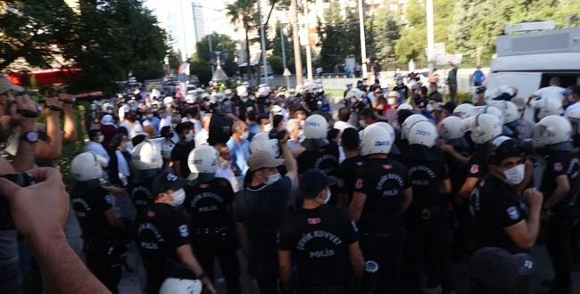Şanlıurfa'da HDP'lilerin yürüyüşüne izin verilmedi