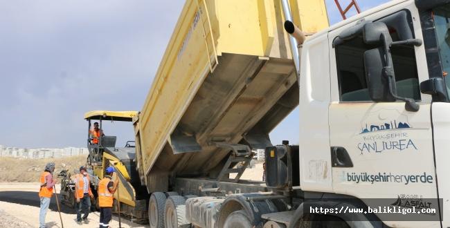 Urfa Büyükşehir Sıcak Asfalt Çalışmalarını Sürdürüyor