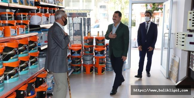 Başkan Metin Baydilli'den Esnaf Ziyareti