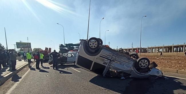 Akçakale'de trafik kazası: 1 yaralı