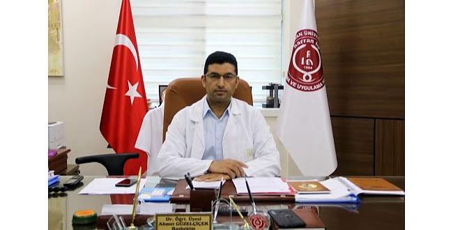 Harran Üniversitesi Tıp Fakültesi Başhekimi Güzelçiçek'in acı günü