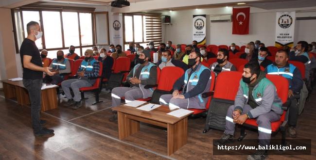 Hilvan'da Belediye personellerine iş güvenliği semineri düzenlendi