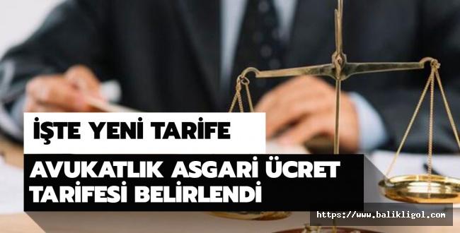 Resmi Gazete'de Yayımlandı: Avukatlık Asgari Ücret Tarifesinde Değişiklik