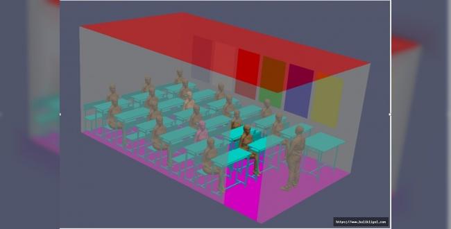 Sınıflarda Koronavirüs Dağılım Simülasyonunu Yapıldı