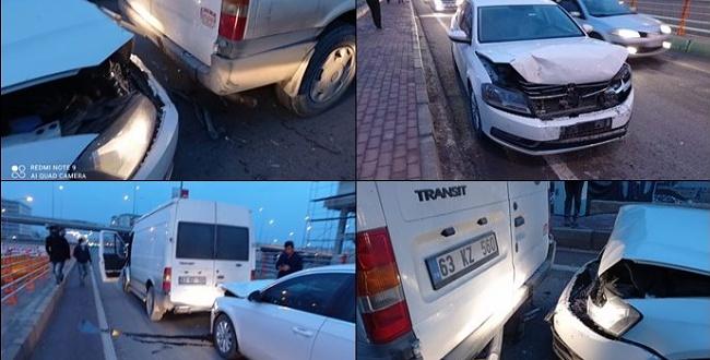 OSM kavşağında zincirleme trafik kazası