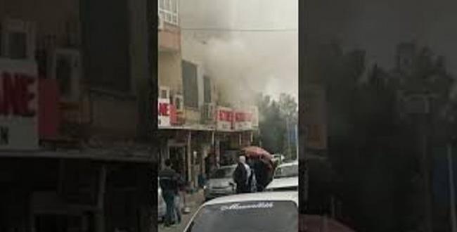 Balıklıgöl Devlet Hastanesi karşısındaki meskende yangın