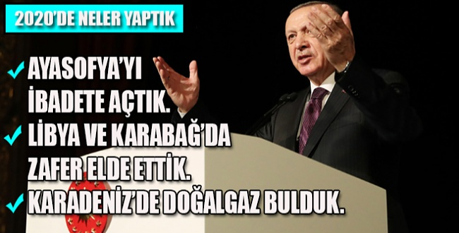 Cumhurbaşkanı Erdoğan'dan yeni yıl mesajında yapılanları anlattı