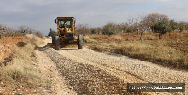 Gölpınar mahallesinde köy içi yolları yapılıyor