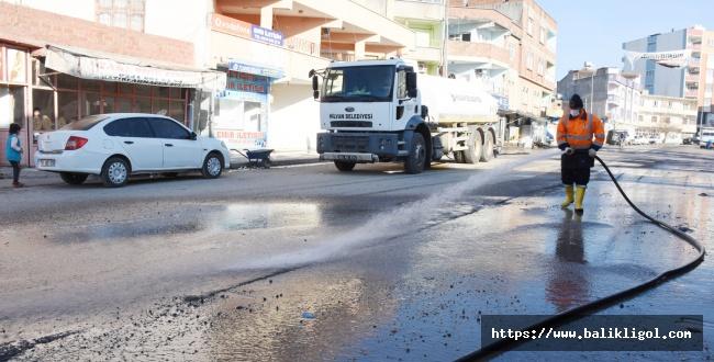 Hilvan'da Cadde ve sokaklar baştan aşağı yıkandı