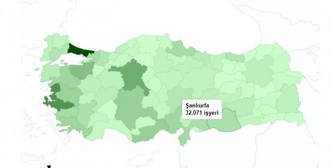 İşte Şanlıurfa'daki esnaf sayısı