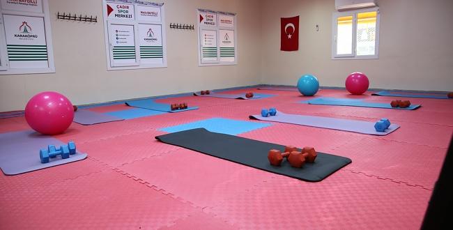 Karaköprü Belediyesi Kadınlar İçin Spor Salonu açtı