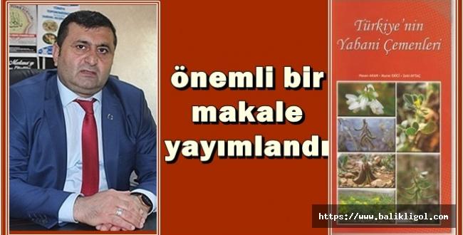 Türkiye'nin Yabani Çemenleri ile ilgili önemli bir makale yayımlandı