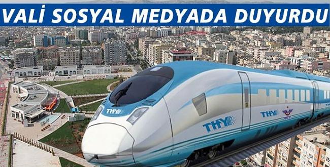 Vali duyurdu! Gaziantep-Şanlıurfa Hızlı Tren Projesi tamamlandı