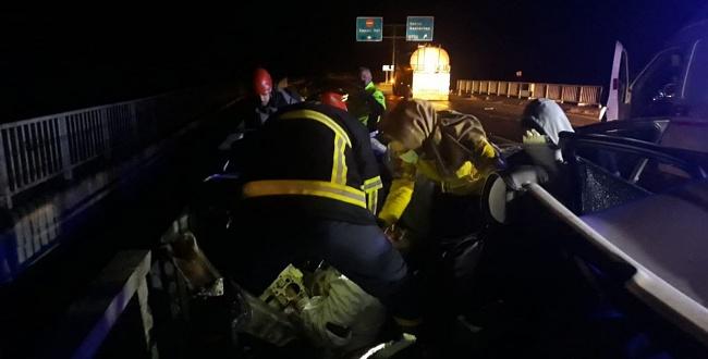 Eyyübiye çevreyolunda trafik kazası: 1 ölü 1 yaralı