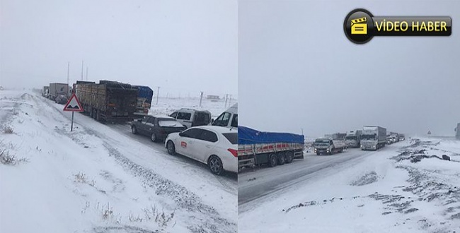 Urfa-Diyarbakır yolunda kar yağdı! Sürücüler yolda mahsur kaldı