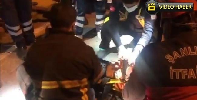 Trafik kazası! Aracın altına sıkışan çocuk kurtarıldı