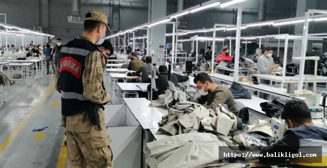 Urfa'da Jandarma Fabrikalara Denetim Yaptı